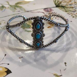 Jewelry - American West Sleeping Beauty Cuff Bracelet Large